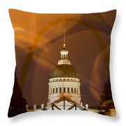 Federal Courthouse St Louis Throw Pillow