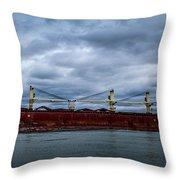 Federal Elbe Throw Pillow