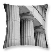 Federal Hall Columns Throw Pillow