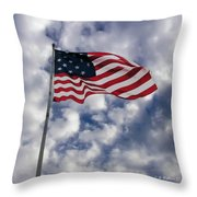 Federal Hill Flag Throw Pillow by Brian Wallace