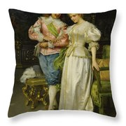 Betrothed Throw Pillow
