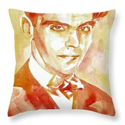 Federico Garcia Lorca Portrait Throw Pillow