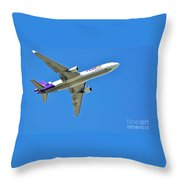 Fedex At Work Throw Pillow