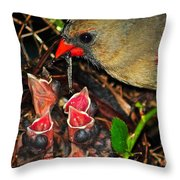 Feed Me Mommy Throw Pillow