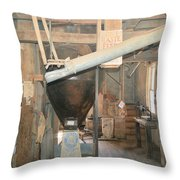 Feed Mill Throw Pillow