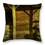 Feed Mill Store Throw Pillow