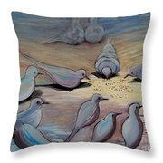 Feed The Birds Throw Pillow