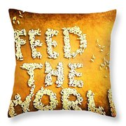 Feed The World Throw Pillow