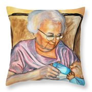 Feeding Baby 2 Throw Pillow