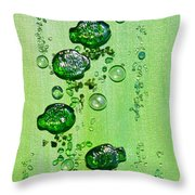 Feeding The Fish Throw Pillow by Donna Blackhall