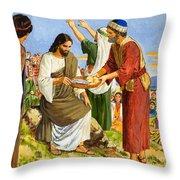 Feeding The Five Thousand Throw Pillow