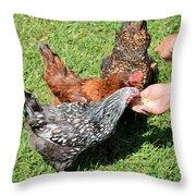 Feeding Time 7954 Throw Pillow