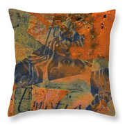 Feel Emotion Orange And Green Throw Pillow