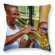 Feel It - New Orleans Jazz  Throw Pillow