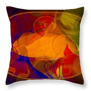 Feeling At Home With Uncertainty Abstract Healing Art Throw Pillow