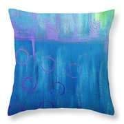 Feeling Blue Abstract Throw Pillow