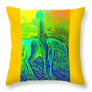 Feeling Free Now And Enjoying The Green Landscape But Will Accept My Destiny And Surrender Anyway   Throw Pillow