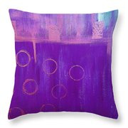 Feeling Purple Abstract Throw Pillow