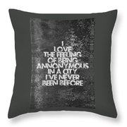 Feeling Quotes Poster Throw Pillow