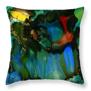 Feeling Violated And Blue Throw Pillow