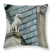 Feline Sentry Throw Pillow