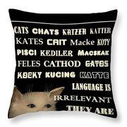 Felines   - Poster  Throw Pillow
