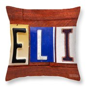 Felix License Plate Name Sign Fun Kid Room Decor Throw Pillow