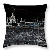 Felixstowe Glow 001 Throw Pillow