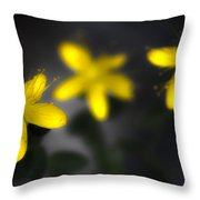 Fell Through Yellow Throw Pillow