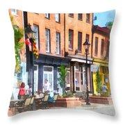 Fells Point Street Throw Pillow
