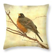 Female American Robin Throw Pillow