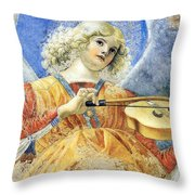Female Angel Throw Pillow