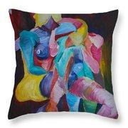 Female Art Throw Pillow