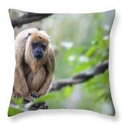 Female Howler Monkey Throw Pillow