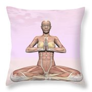 Female Musculature Performing Throw Pillow