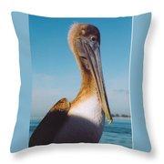 Female Pelican Throw Pillow