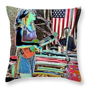 Female Performers Throw Pillow