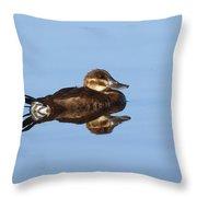 Female Ruddy Duck Oxyurus Jamaicensis Throw Pillow