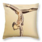 Female Skeletal System Throw Pillow