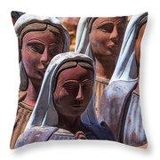 Female Statues Throw Pillow