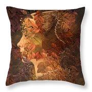 Femme D Automne Throw Pillow