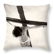 Femme En Croix I Throw Pillow