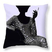 Femme Fatale C1960 Shaken Not Stirred Throw Pillow