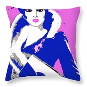 Femme Fatale Premeditated Spring Beauty Throw Pillow
