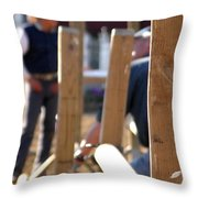 Fence And Cowboy 17525 Throw Pillow