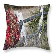 Fence And Creeper Throw Pillow