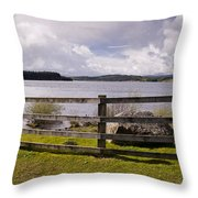 Fence At Kielder Water Throw Pillow