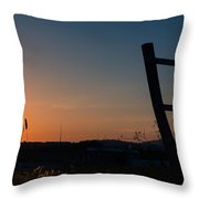 Fence At Sunset II Throw Pillow