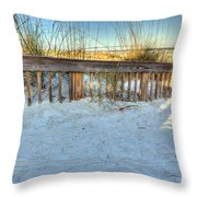 Fence At The Beach In St Augustine Florida Throw Pillow