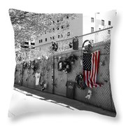 Fence At The Oklahoma City Bombing Memorial Throw Pillow
